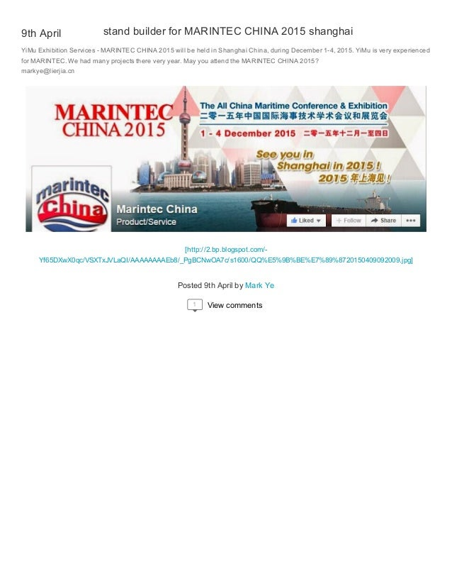 Exhibition Stand Builders China : Stand builder for marintec china shanghai
