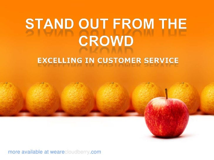 Stand out from the Crowd<br />excelling in customer service<br />more available at wearecloudberry.com<br />