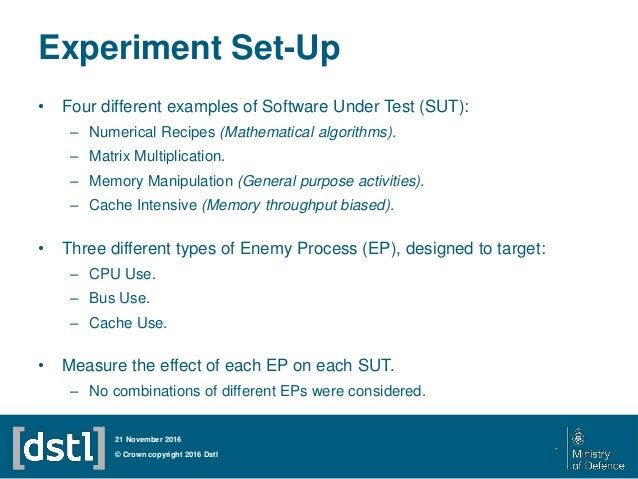 Experiment Set-Up • Four different examples of Software Under Test (SUT): – Numerical Recipes (Mathematical algorithms). –...