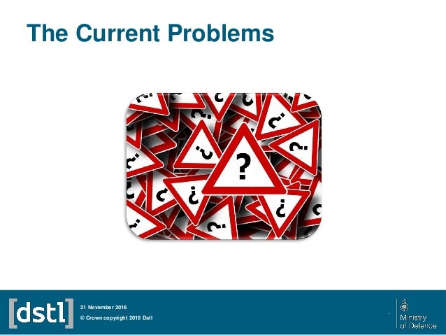 The Current Problems © Crown copyright 2016 Dstl 21 November 2016 .