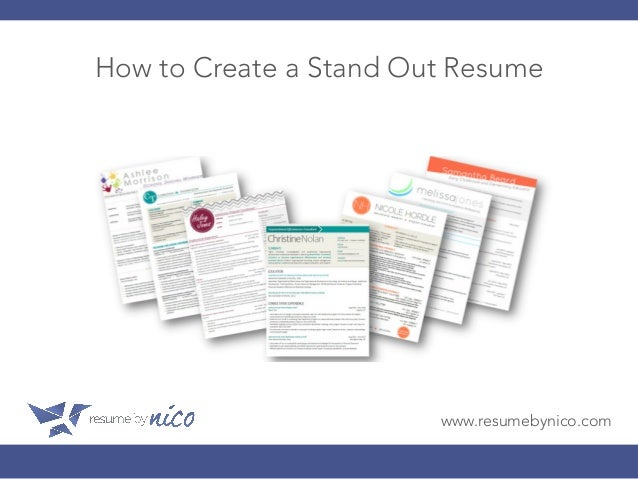 How To Create A Stand Out Resume ...  Create Resume