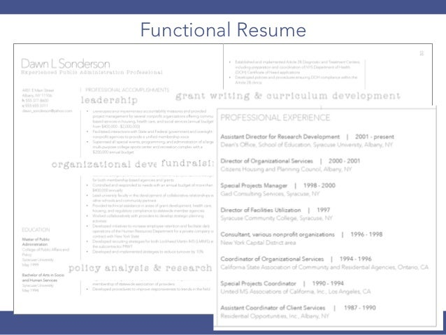 effectiveness and efficiency 22 functional resume