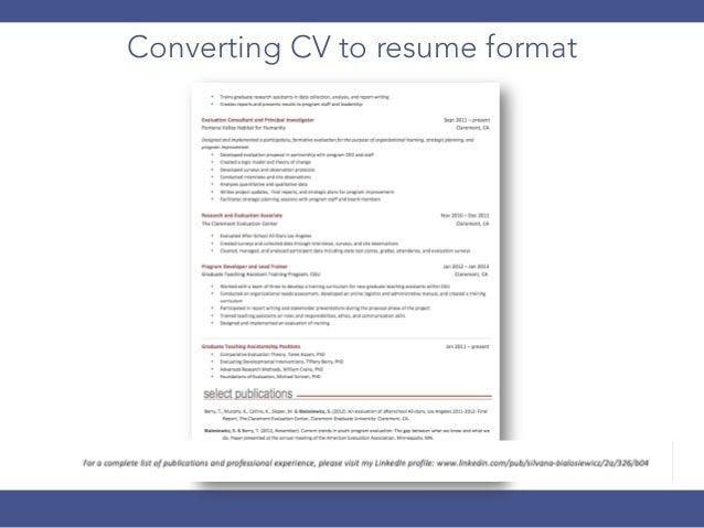 functional resume 23 converting cv