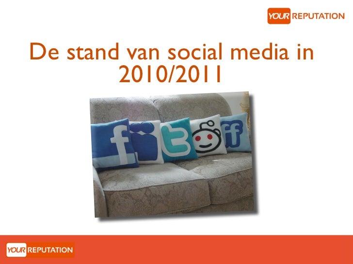De stand van social media in        2010/2011