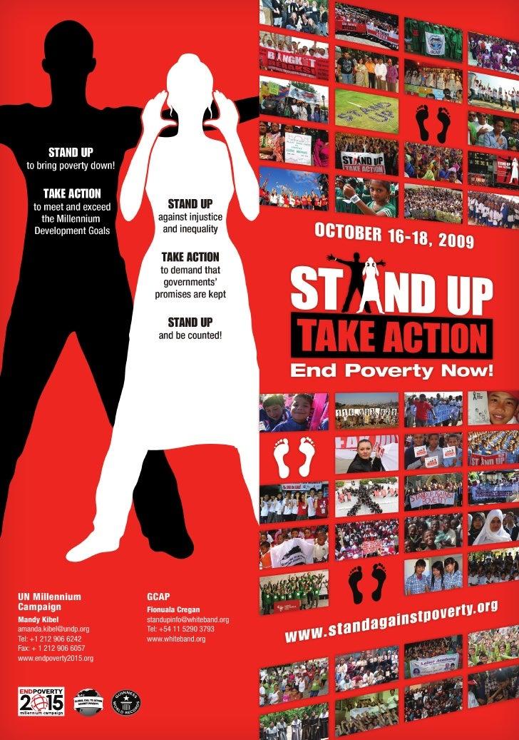 UN Millennium            GCAP Campaign                 Fionuala Cregan Mandy Kibel              standupinfo@whiteband.org ...