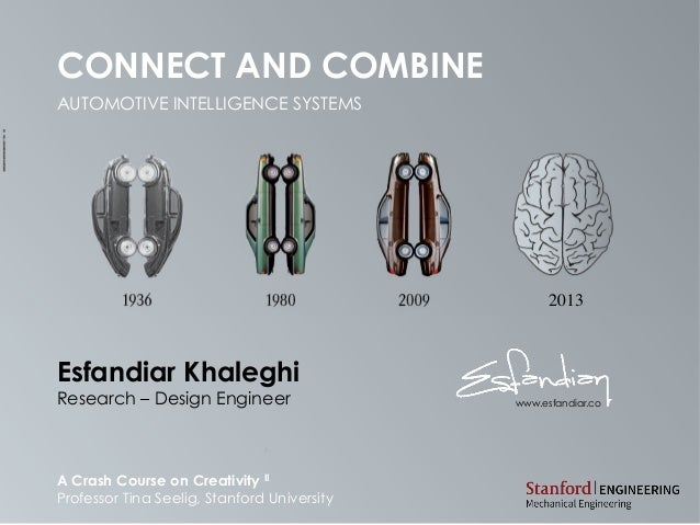 CONNECT AND COMBINEAUTOMOTIVE INTELLIGENCE SYSTEMSA Crash Course on Creativity IIProfessor Tina Seelig, Stanford Universit...