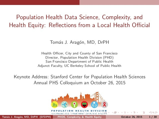 Population Health Data Science, Complexity, and Health