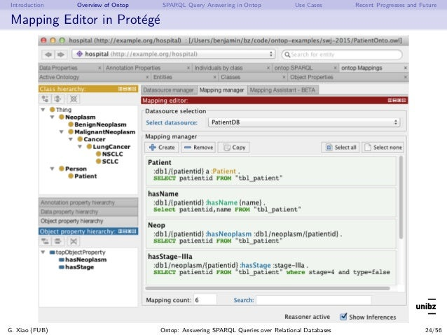 Introduction Overview of Ontop SPARQL Query Answering in Ontop Use Cases Recent Progresses and Future Mapping Editor in Pr...
