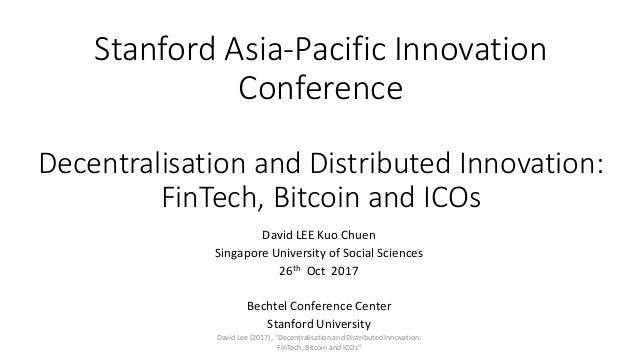 Decentralisation and Distributed Innovation: FinTech