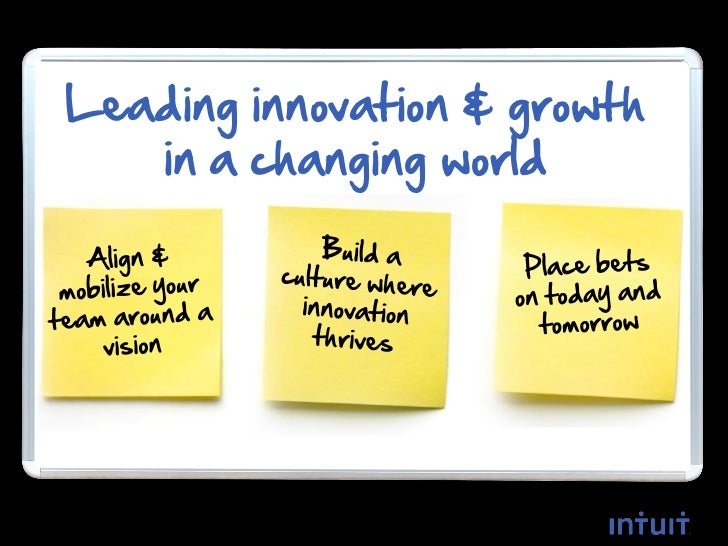 Leading innovation & growth    in a changing world