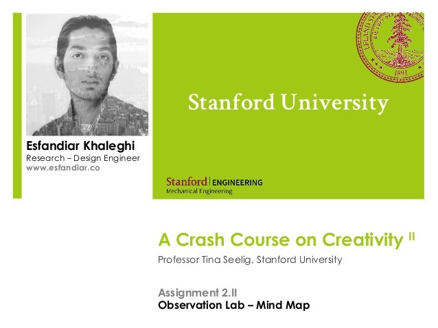 A Crash Course on Creativity IIProfessor Tina Seelig, Stanford UniversityStanford UniversityEsfandiar KhaleghiResearch – D...