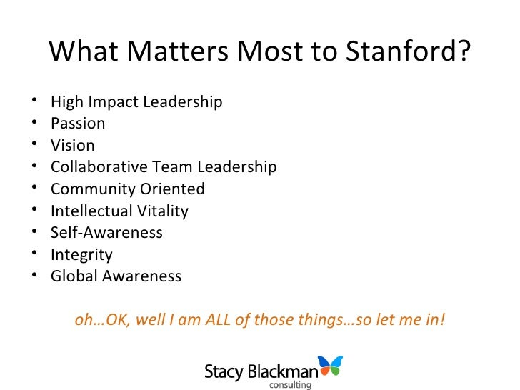 Stanford Admissions Essays | Resume CV Cover Letter