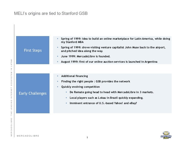 MercadoLibre presentation; Stanford Graduate School of Business. March 2011 Slide 2