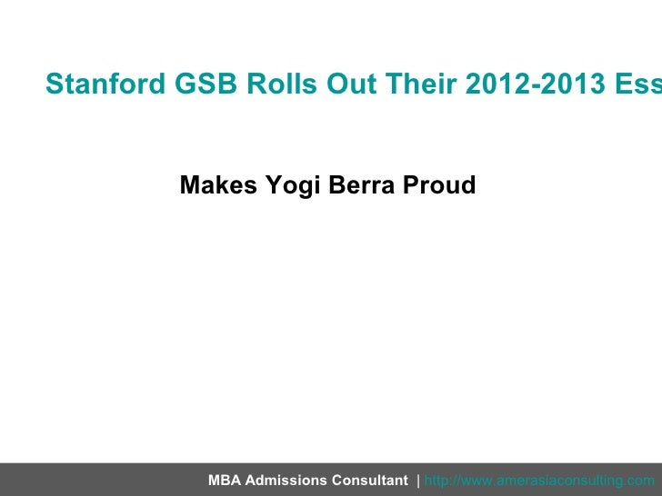 Stanford GSB MBA Essays and Application for the Class of 2021