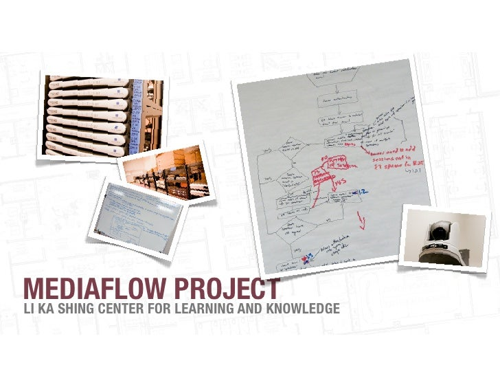 MEDIAFLOW PROJECTLI KA SHING CENTER FOR LEARNING AND KNOWLEDGE