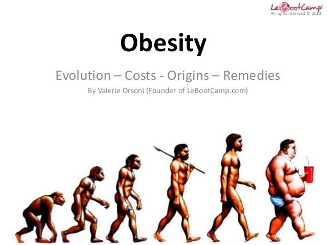 All rights reserved © 2013              ObesityEvolution – Costs - Origins – Remedies     By Valerie Orsoni (Founder of Le...