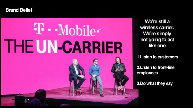 28TBWACHIATDAY 28 We're still a wireless carrier. We're simply not going to act like one 1.Listen to customers 2.Listen to...