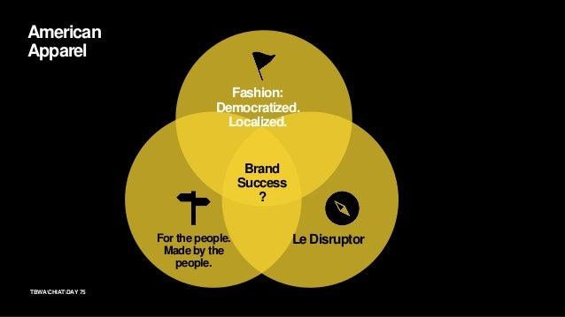 76TBWACHIATDAY Brand Belief Fashion: Democratized. Localized