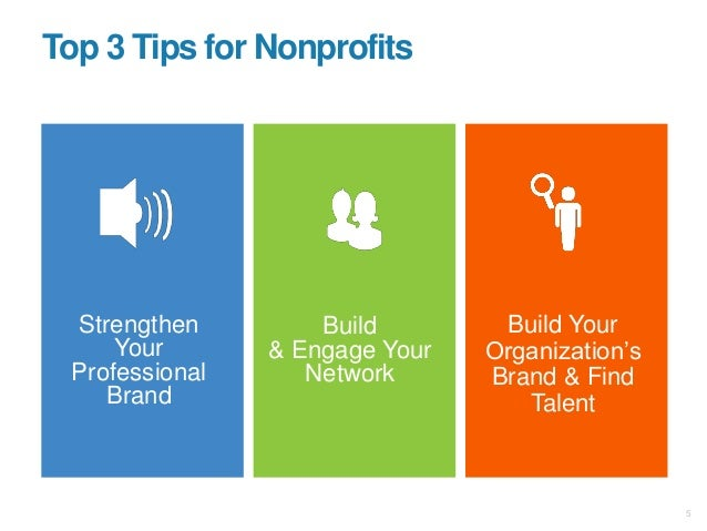 """Strengthen Your Professional Brand Build & Engage Your Network Build Your Organization""""s Brand & Find Talent Top 3 Tips fo..."""