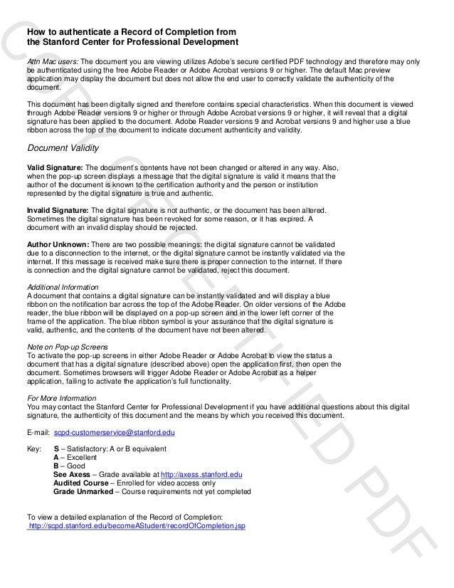 Stanford University Energy Technology Innovation Certificate