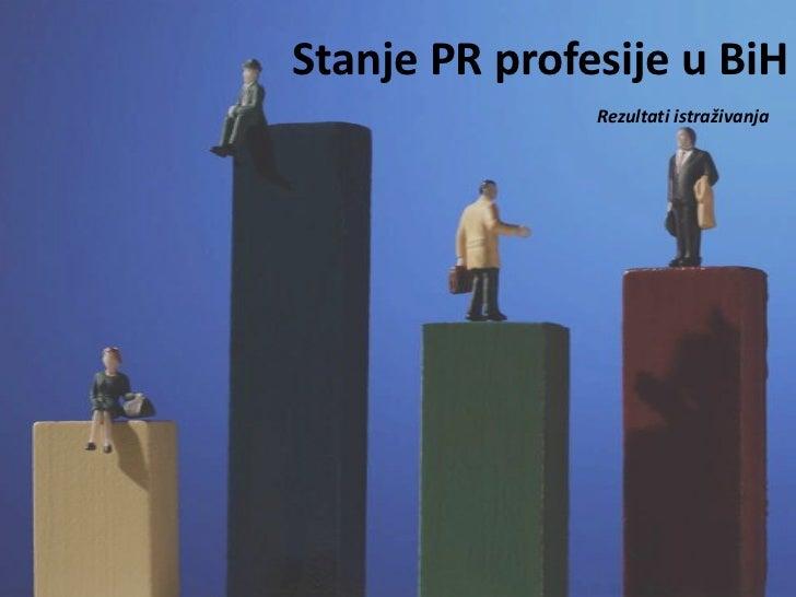 Stanje PR profesije u BiH