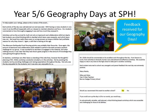 Stanley park high geography department sgqm and cof e