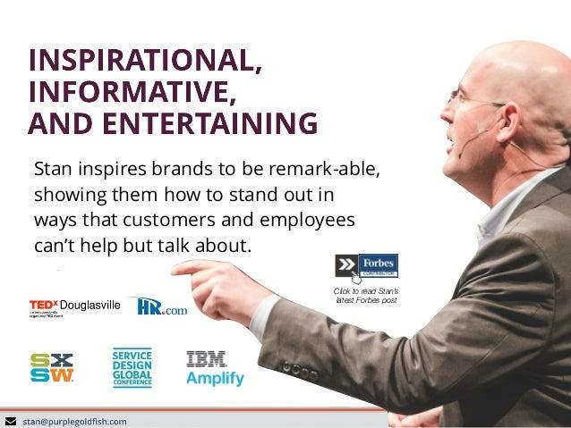Stan Phelps Customer Experience and Employee Engagement Keynote Speaker Kit Slide 3