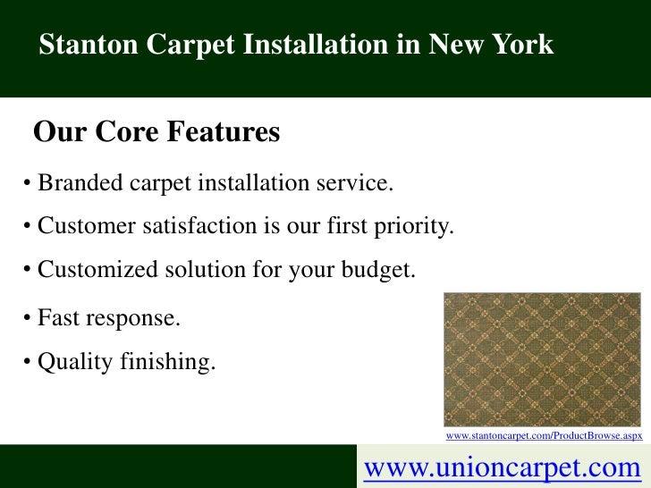 Discount Stanton Carpet Installation Services in New York Slide 2