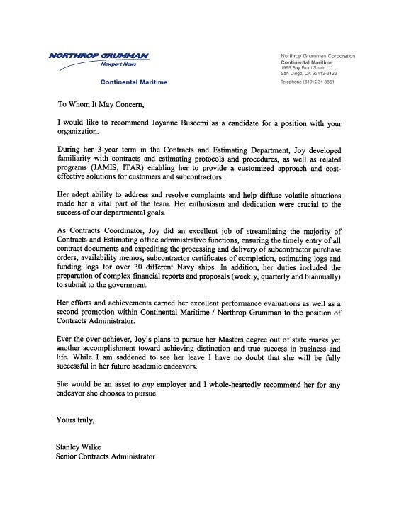 Letter From Employer Grude Interpretomics Co