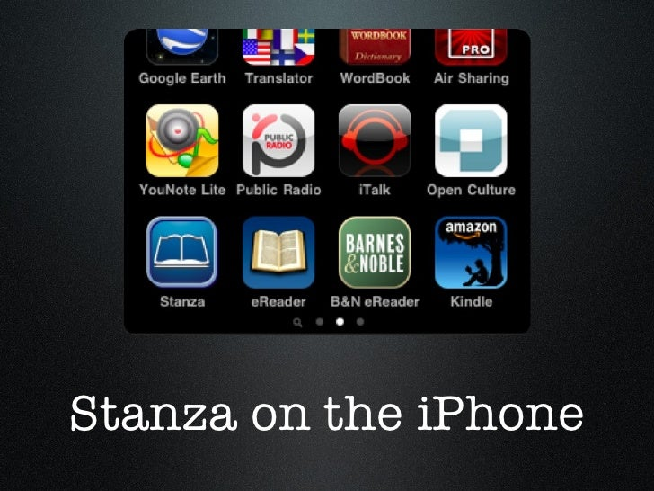 Stanza on the iPhone
