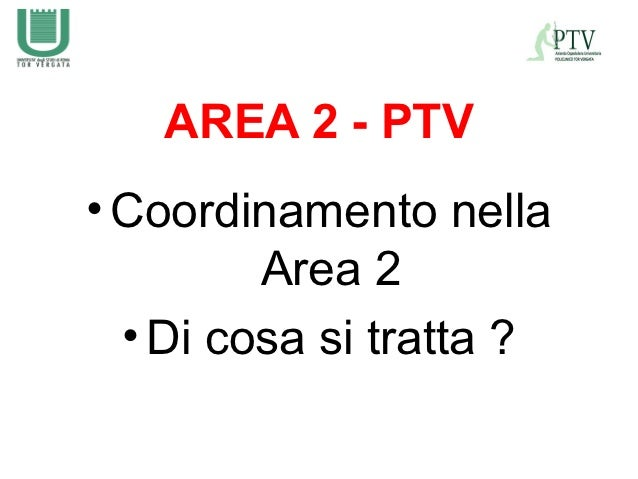 AREA 2 - PTV• Coordinamento nella         Area 2  • Di cosa si tratta ?
