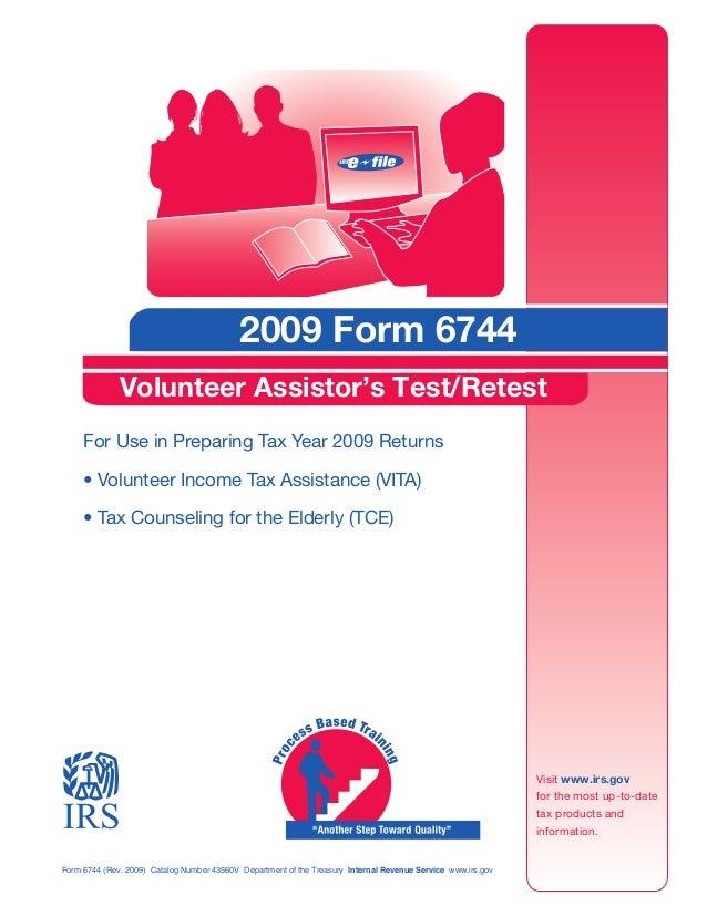 2009 Form 6744, Test Booklet
