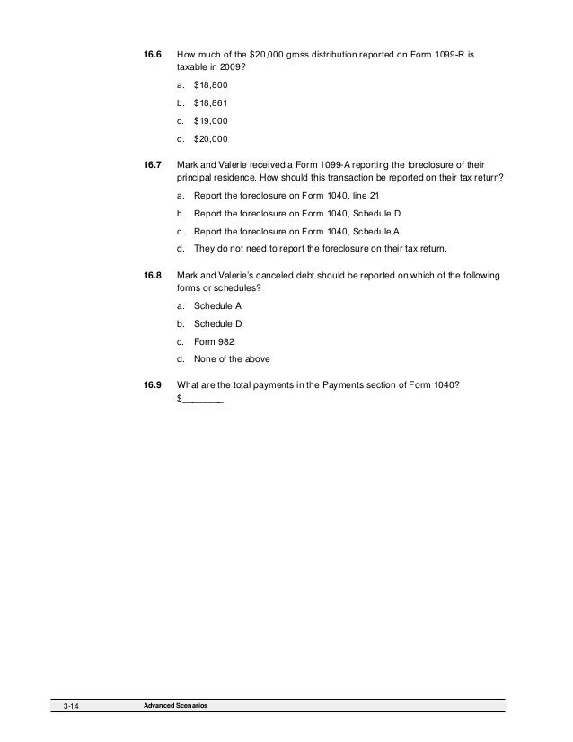 2009 Form 6744, Test Booklet