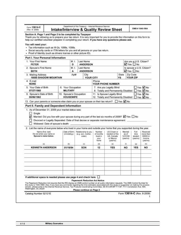 2009 Form 6744 Test Booklet – Standard Deduction Worksheet
