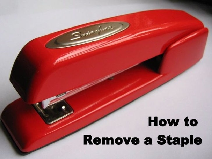 How to  Remove a Staple