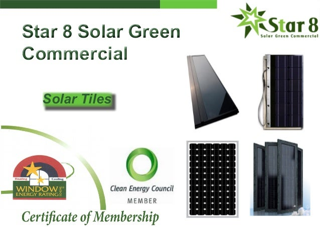 Star 8 Solar Green Commercial Star 8 Solar Green Commercial Solar Tiles