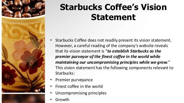 Starbucks vision mission goals objectives