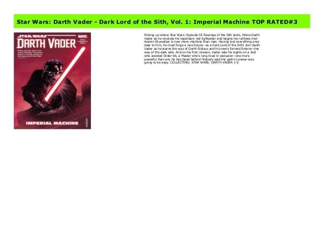 Star Wars Darth Vader Dark Lord Of The Sith Vol 1 Imperial Mach