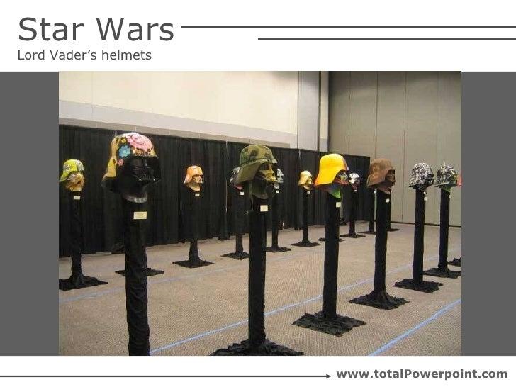 Star Wars Lord Vader's helmets www.totalPowerpoint.com