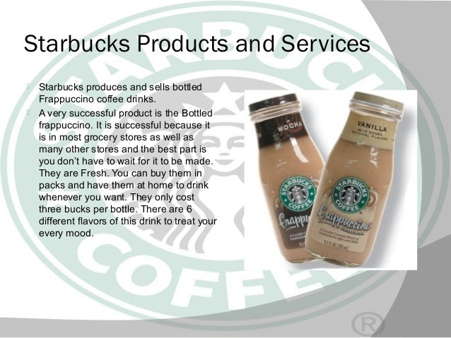the products and services of starbucks Starbucks® espresso roast every espresso beverage we handcraft for you begins right here our master roasters coax the beans along, the heat taking them deep and.