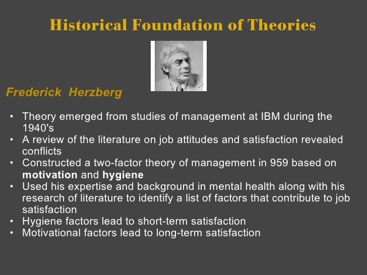 Two Factor Theory by Frederick Herzberg