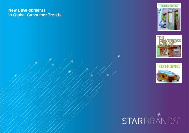 New Developments in Global Consumer Trends