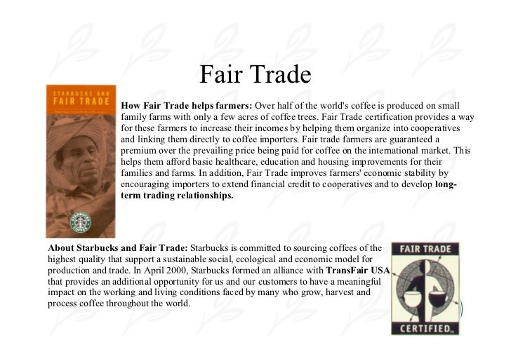 fair trade coffee case study Based on a recent study of fair trade coffee experiences in latin  experiences of  seven case study cooperatives participating in the fair trade coffee initiative in.