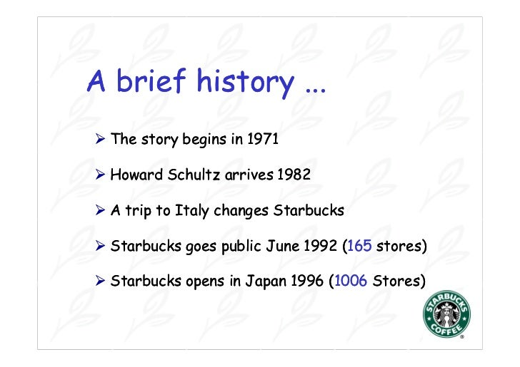 starbucks coffee a case study Starbucks case study a case study documenting starbucks' success and challenges starbucks coffee company was established in 1971.