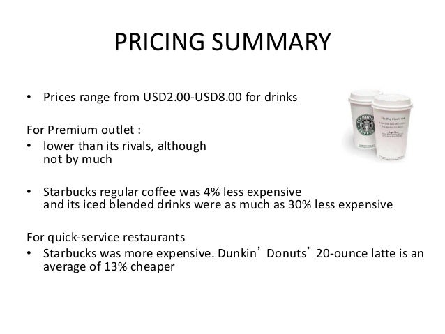 starbucks pricing and promotion strategies Marketing departments use different but complementary strategies to increase revenue and profit pricing strategies use the price of a product or service to draw in new customers while maximizing .