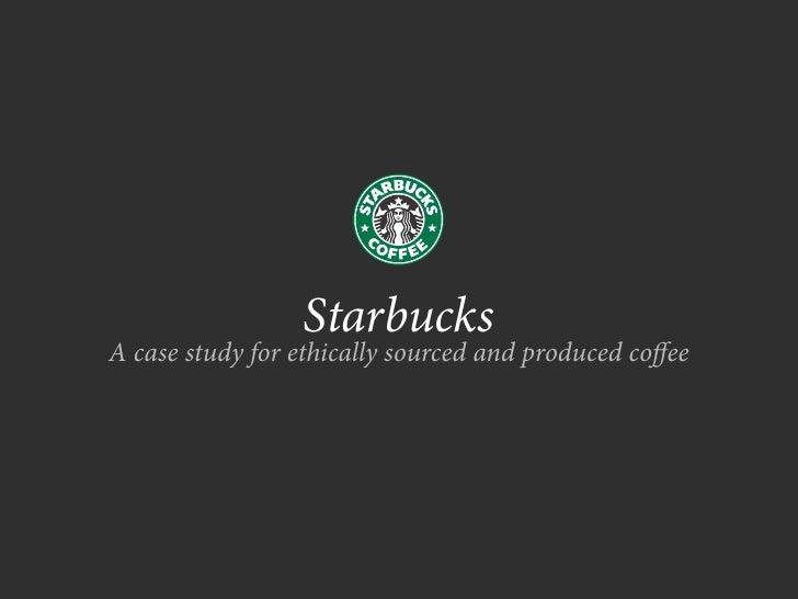 starbucks presentation thesis