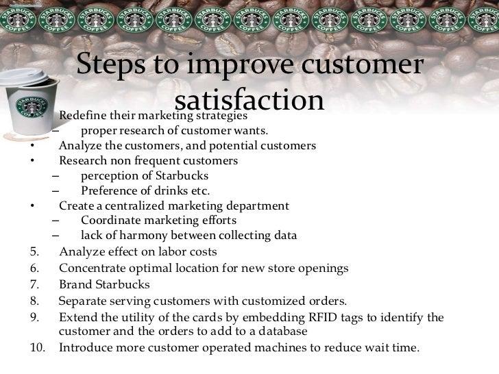 how can starbucks improve customer satisfaction