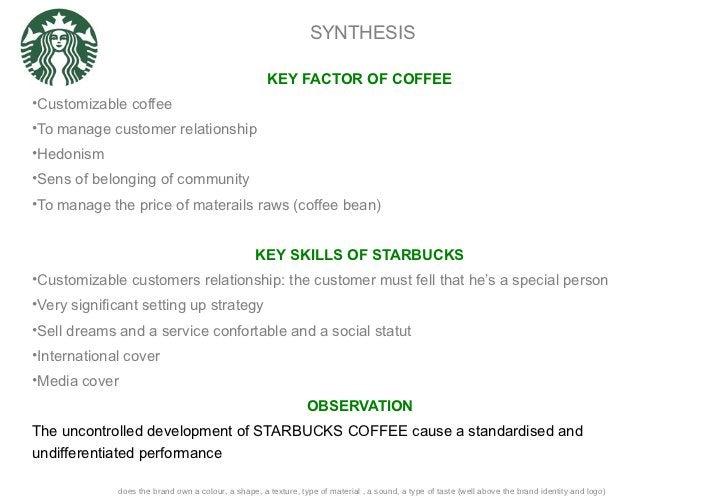SYNTHESIS <ul><li>KEY FACTOR OF COFFEE </li></ul><ul><li>Customizable coffee </li></ul><ul><li>To manage customer relation...