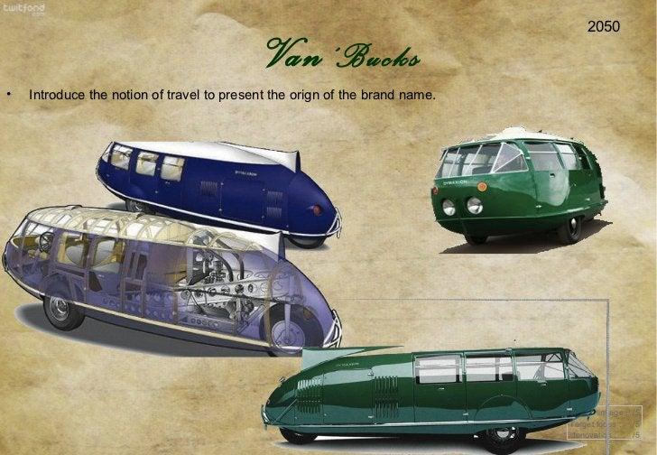 2050 Brand linkage :  /5 Target focus :  /5 Innovation :  /5 Van 'Bucks <ul><li>Introduce the notion of travel to present ...