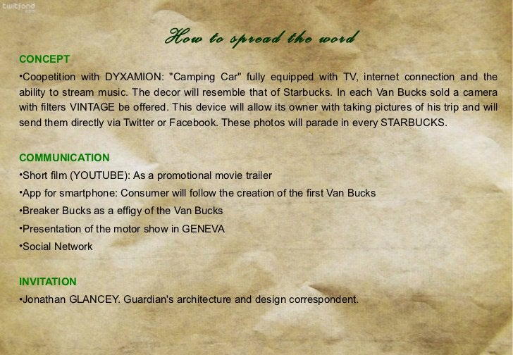 <ul><li>CONCEPT </li></ul><ul><li>Coopetition with  DYXAMION:  &quot;Camping Car&quot; fully equipped with TV, internet co...